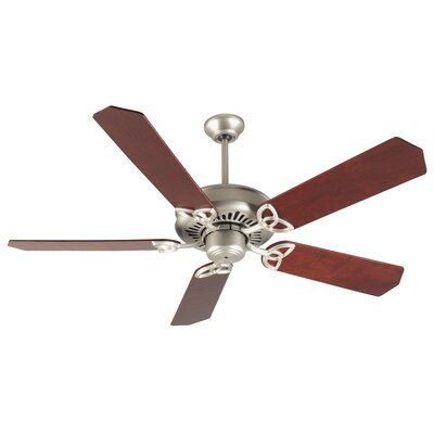 52 Emory 5-Blade Ceiling Fan Finish: Brushed Satin Nickel with Rosewood Blades