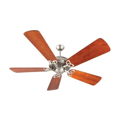 52 Emory 5-Blade Ceiling Fan Finish: Brushed Satin Nickel with Distressed Cherry Blades