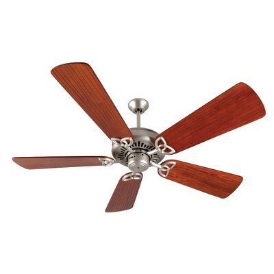 52 Emory 5-Blade Ceiling Fan Finish: Brushed Satin Nickel with Cherry Blades