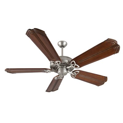 52 Emory 5-Blade Ceiling Fan Finish: Brushed Satin Nickel/Oak
