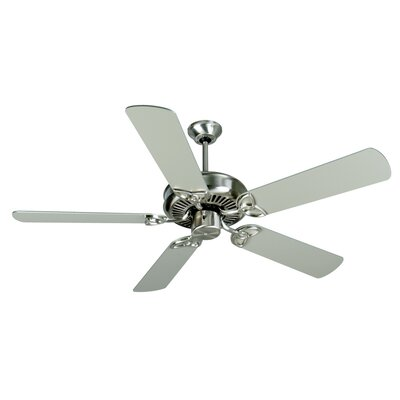 52 Holmstrom Traditional 5-Blade Ceiling Fan Finish: Stainless Steel with Brushed Nickel Blades