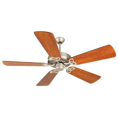 52 Holmstrom 5 Hand-Scraped Blade Ceiling Fan Finish: Brushed Satin Nickel with Distressed Cherry Blades