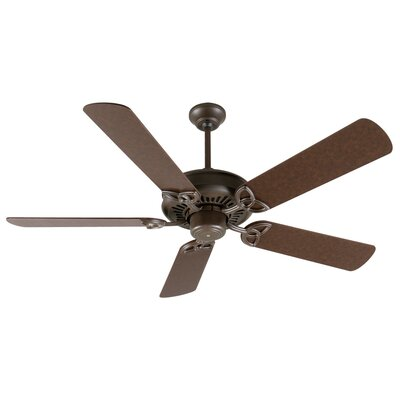 52 Emory 5-Blade Ceiling Fan Finish: Aged Bronze Textured with Aged Bronze Blades