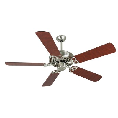 52 Holmstrom Traditional 5-Blade Ceiling Fan Finish: Stainless Steel with Cherry/Rosewood Blades