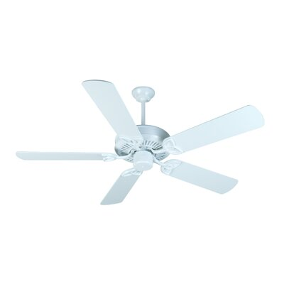 52 Holmstrom Traditional 5-Blade Ceiling Fan Finish: White