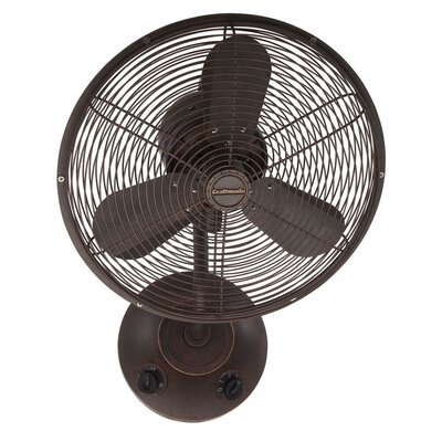 16 Hadlee 3 Blade Wall Mount Fan Finish: Aged Bronze