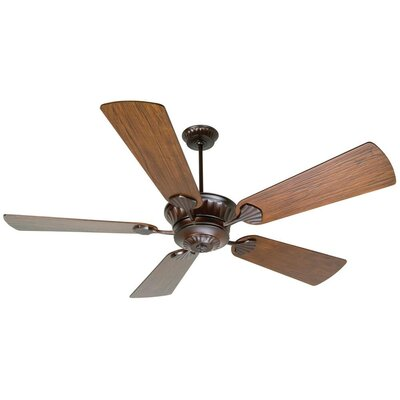 70 Sullivan 5-Blade Ceiling Fan with Remote Finish: Oiled Bronze with Walnut Blades