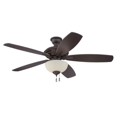 52 Groves 5-Blade Ceiling Fan Finish: Oiled Bronze Gilded with Oiled Bronze Blades