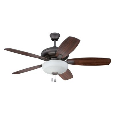 52 Colchester 5-Blade Ceiling Fan Finish: Espresso with Espresso/Walnut Blades