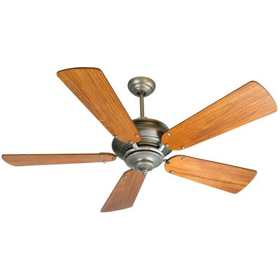52 Arnette Contemporary 5-Blade Ceiling Fan Finish: Pewter with Teak Blades