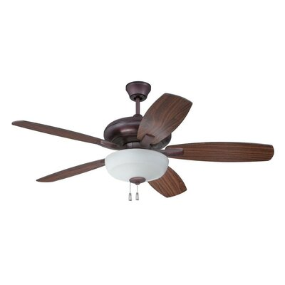 52 Colchester 5-Blade Ceiling Fan Finish: Oiled Bronze with Oiled Bronze/Walnut Blades