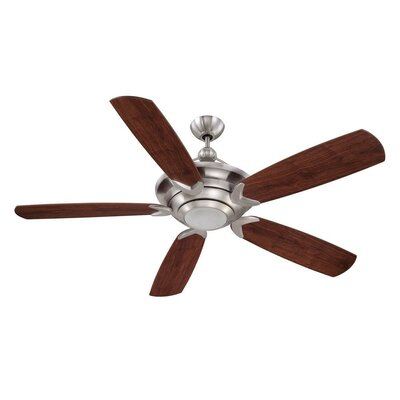 60 Ironwood 5-Blade Ceiling Fan Finish: Stainless Steel with Flat Black Blades