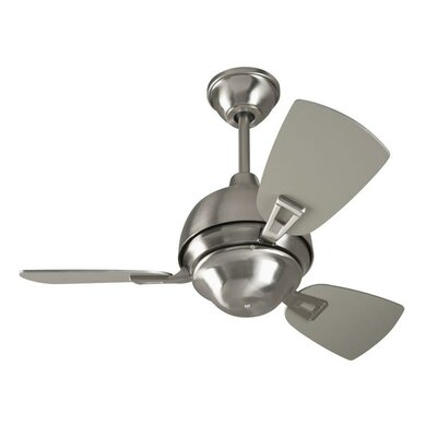 30 Luise 3 Blade LED Ceiling Fan Finish: Stainless Steel with Brushed Nickel Blades