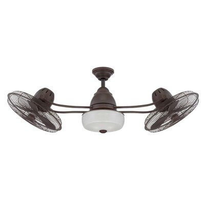 48 Emerson 6 Blade Dual LED Ceiling Fan with Remote Finish: Aged Bronze Textured