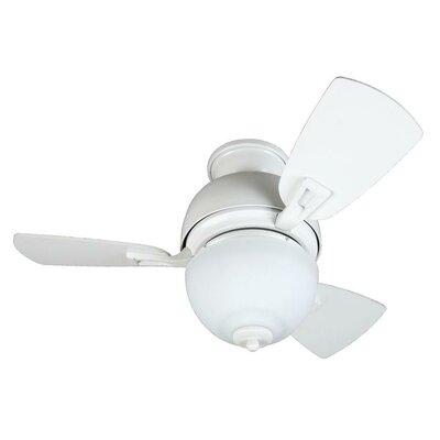 30 Luise 3 Blade LED Ceiling Fan Finish: White