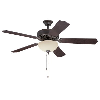 52 Abbot Bridge 5-Blade Ceiling Fan Finish: Aged Bronze Textured with Aged Bronze Blades