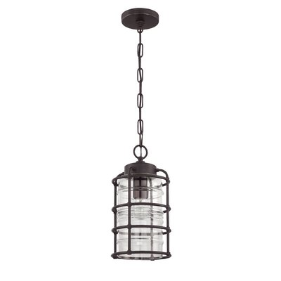 Hadley 1-Light Outdoor Pendant Finish: Aged Bronze Brushed