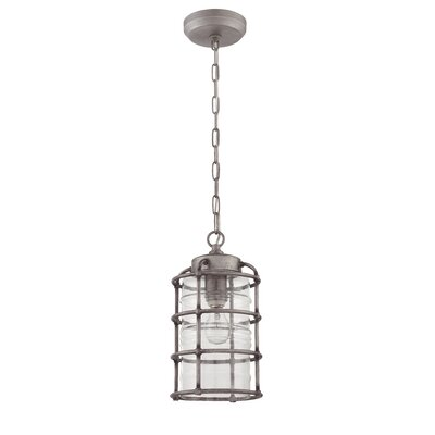 Hadley 1-Light Outdoor Pendant Finish: Aged Galvanized