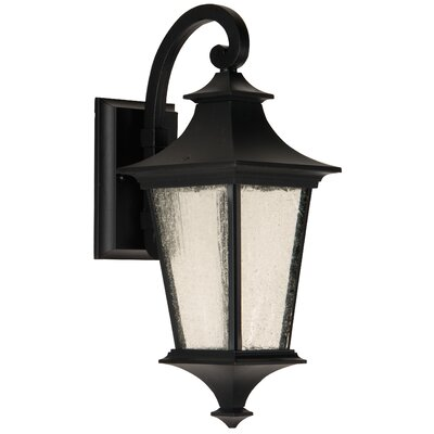 Argent II 1-Light Outdoor Wall Lantern Finish: Midnight