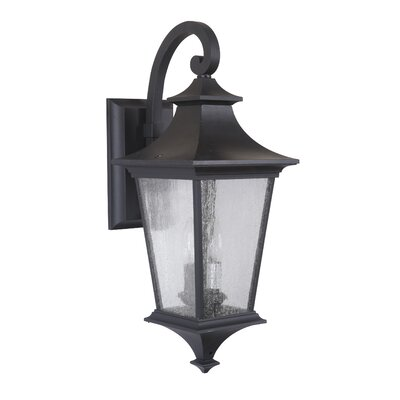 Argent II 2-Light Outdoor Wall Lantern Finish: Midnight