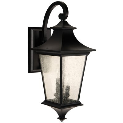 Argent II 3-Light Outdoor Wall Lantern Finish: Midnight