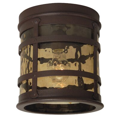 Oakhill Rustic Iron 1-Light Flush Mount