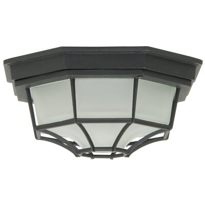 Cast Aluminum Flush Mount Finish: Matte Black