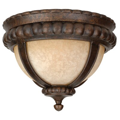 Oakhill Brown 1-Light Flush Mount