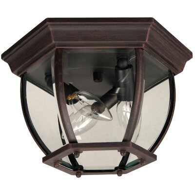 Oakhill 3-Light Flush Mount Finish: Rust