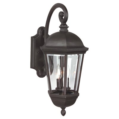 Britannia 3-Light Outdoor Wall Lantern Size: 25.8 H x 12 W x 15.7 D