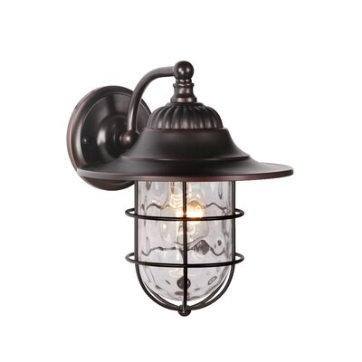 Fairmont 1-Light Outdoor Barn Light Size: 10.63 H x 8 W x 8.8 D