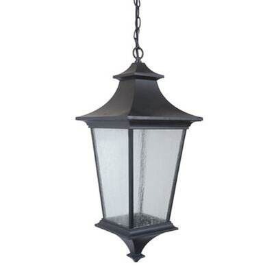 Argent II 3-Light Outdoor Hanging Lantern Finish: Aged Bronze