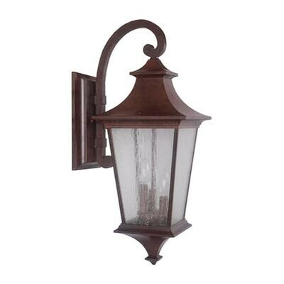 Argent II 3-Light Outdoor Wall Lantern Finish: Aged Bronze