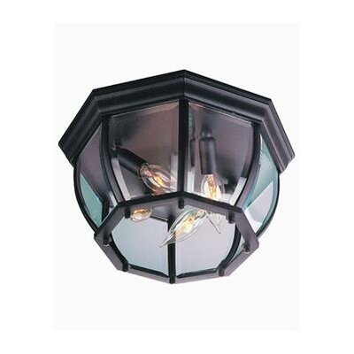 Bent Glass 4-Light Flush Mount Finish: Matte Black