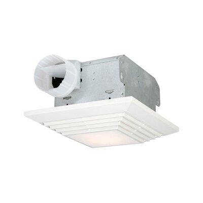 90 CFM Bathroom Ventilation Fan with Light in White