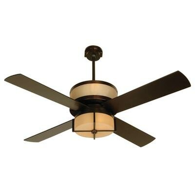 56 Maryana 4 Blade LED Ceiling Fan Finish: Oiled Bronze with Oiled Bronze Blades, Glass Type: White Frost