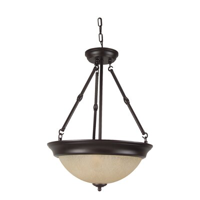 3-Light Inverted Pendant Finish: Oiled Bronze