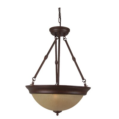 Dixie 3-Light Inverted Pendant Finish: Aged Bronze