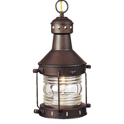 Carriage House 1-Light Outdoor Hanging Lantern Finish: Burnished Copper