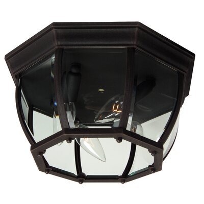 Bent Glass 4-Light Flush Mount Finish: Rust