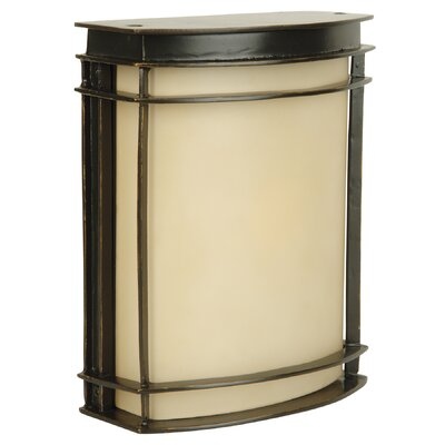 Oakhill Oiled Bronze 1-Light Outdoor Flush Mount