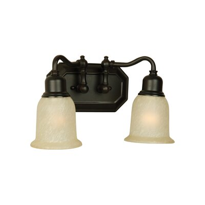 Heritage 2-Light Vanity Light Finish: Oiled Bronze Guilded