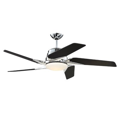 54 Fairman 5-Blade Ceiling Fan Finish: Chrome