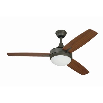 48 Knarr 3-Blade Ceiling Fan Finish: Espresso with Mahogany/Teak Blades