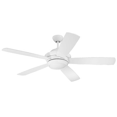 52 Cedarton 5-Blade Ceiling Fan Finish: White with White Blades