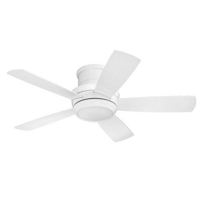 Contemporary 44 Cedarton Hugger 5 Blade Ceiling Fan with Remote Finish: White