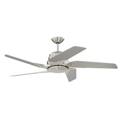 54 Fairman 5-Blade Ceiling Fan Finish: Brushed Polished Nickel