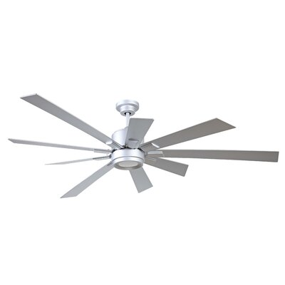 72 Birney 9 Blade Ceiling Fan Finish: Titanium