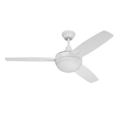 48 Targas 3-Blade Ceiling Fan Finish: White with White Blades