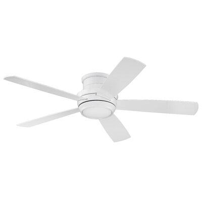 52 Cedarton Hugger 5 Blade Ceiling Fan with Remote Finish: White